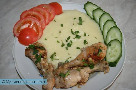 Вторые блюда: Курица в сметане