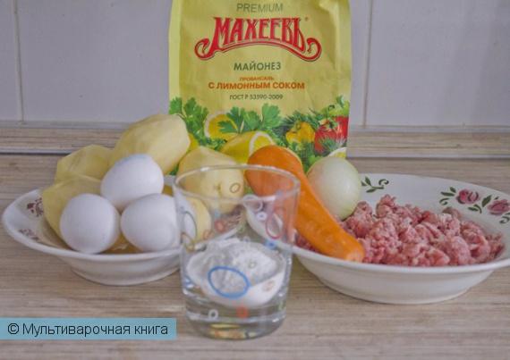 Вторые блюда: Запеканка из картошки с фаршем