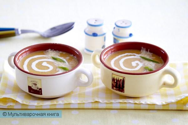 Первое блюдо: Тыквенный суп со сливками