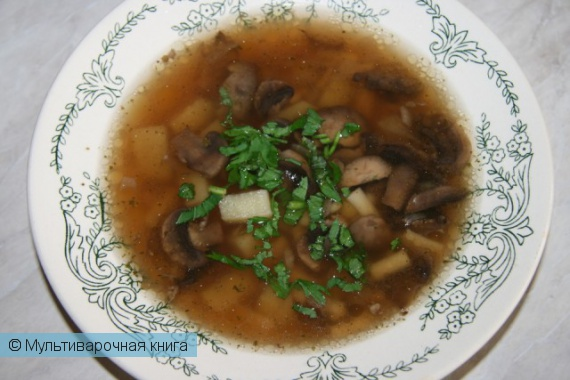 Первое блюдо: Ароматный грибной суп быстрого приготовления