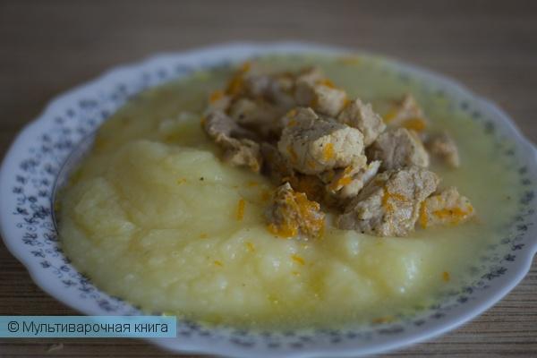 Вторые блюда: Гуляш из курицы в мультиварке