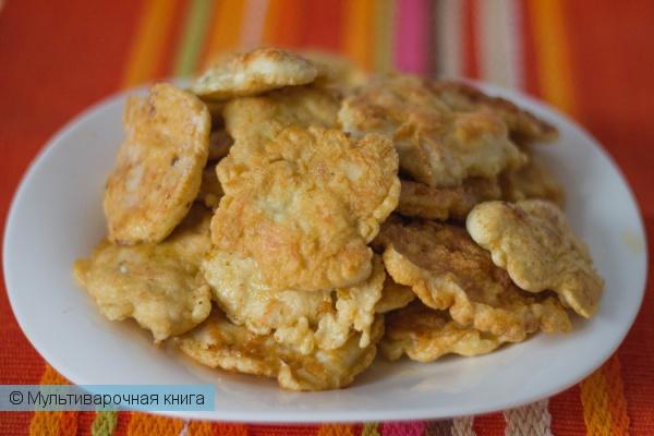Вторые блюда: Куриные оладушки в мультиварке