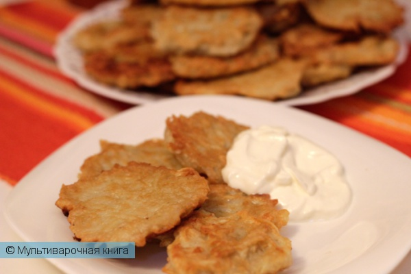 Вторые блюда: Картофельные драники в мультиварке
