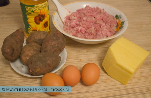 Выпечка: Картофельная запеканка с фаршем в мультиварке