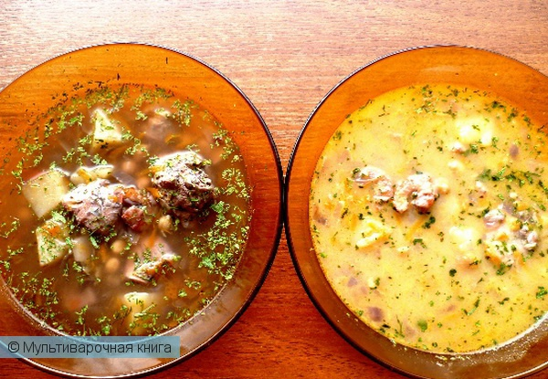 Первое блюдо: Суп Дары моря