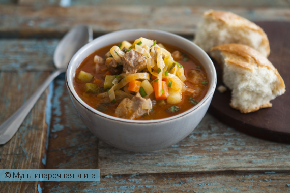 Первое блюдо: Густой овощной суп в мультиварке