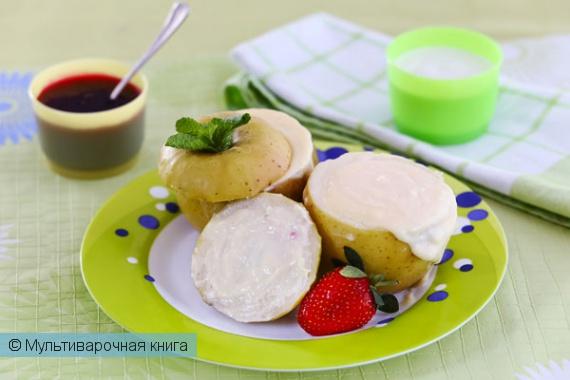 Десерты: Яблоки с творогом в мультиварке