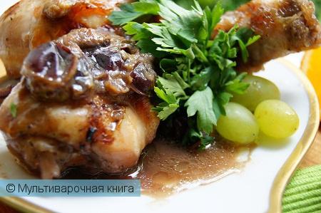 Вторые блюда: Куриные ножки под сливово-медовым соусом в мультиварке