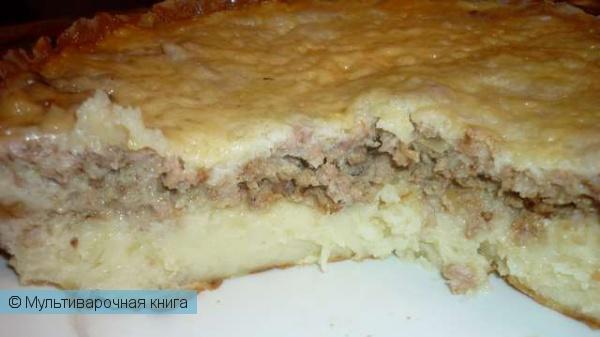 Вторые блюда: Пастуший пирог из риса, картофеля и фарша