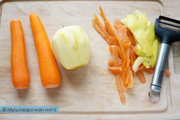 Первое блюдо: Морковно-яблочный суп