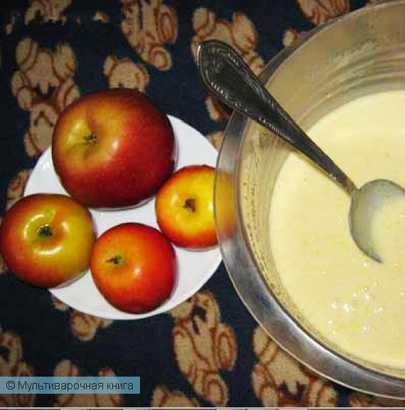 Выпечка: Вкуснейший яблочный пирог приготовленный в мультиварке
