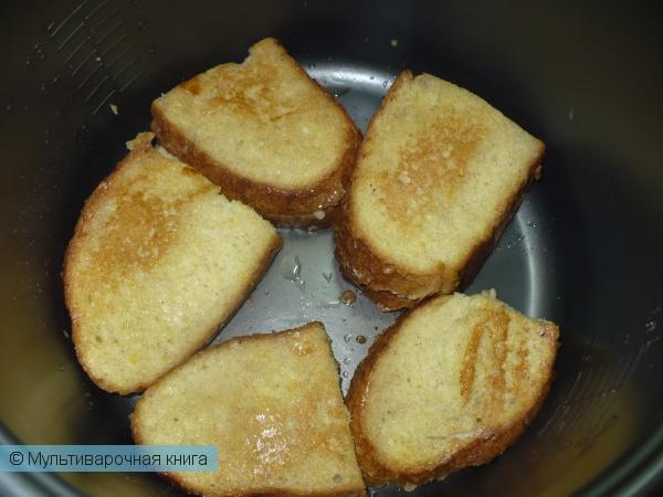 Десерты: Гренки с яблочной начинкой
