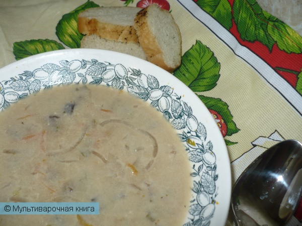 Первое блюдо: Сырный суп