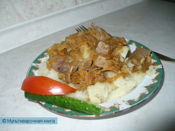 Вторые блюда: Гуляш из говядины