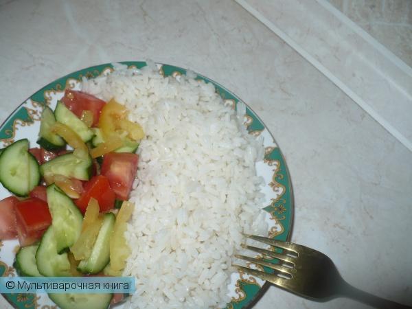Каши: Рассыпчатый рис с маслом в мультиварке