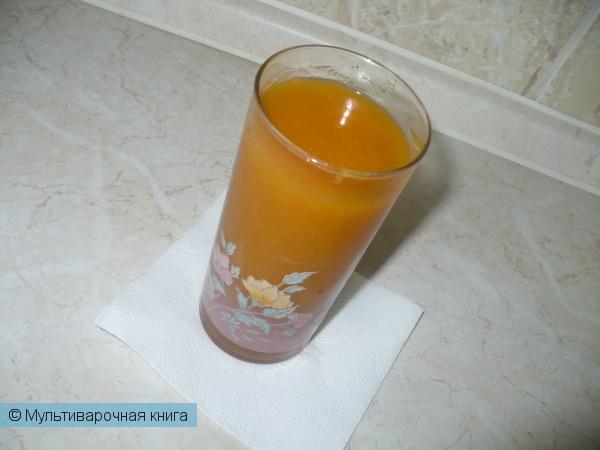 Напитки: Кисель из тыквы и кураги в мультиварке