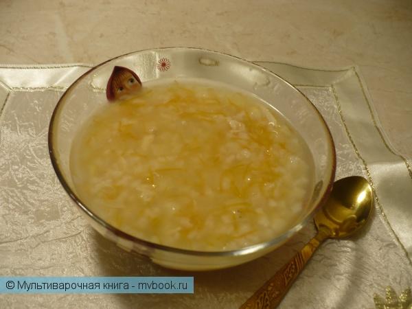Детское меню: Детский суп с индейкой и рисом в мультиварке