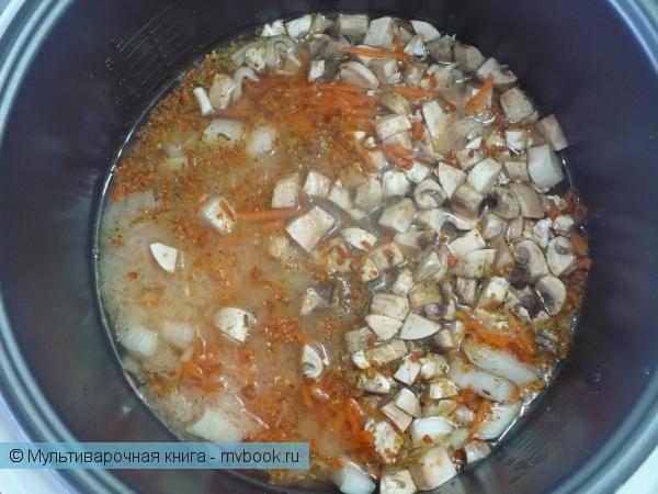 Вторые блюда: Плов с грибами в мультиварке