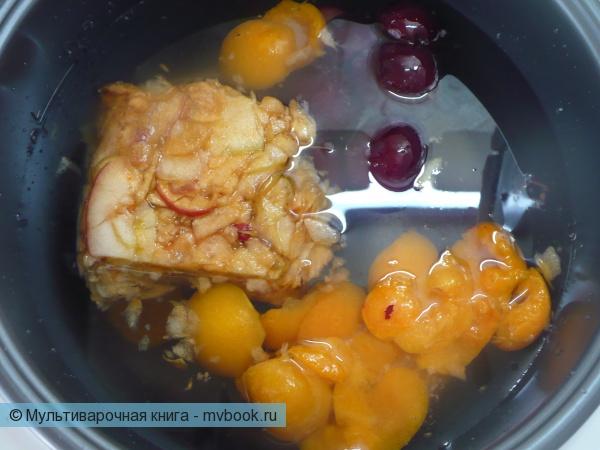 Напитки: Компот из замороженных фруктов в мультиварке