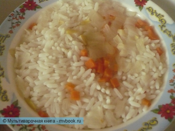 Рис с овощами на пару в мультиварке