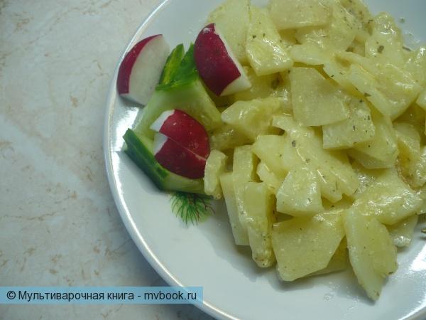Жареный картофель с молоком в мультиварке