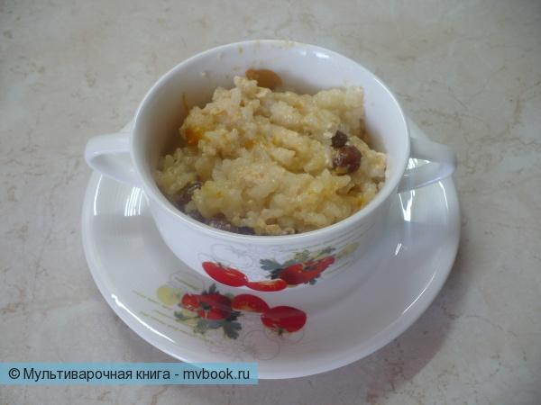 Рисовая молочная каша с сухофруктами в мультиварке