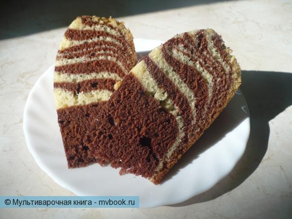 """Пирог """"Зебра"""" в мультиварке"""