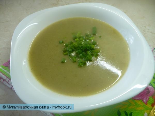 Картофельный суп-пюре с зеленью в мультиварке