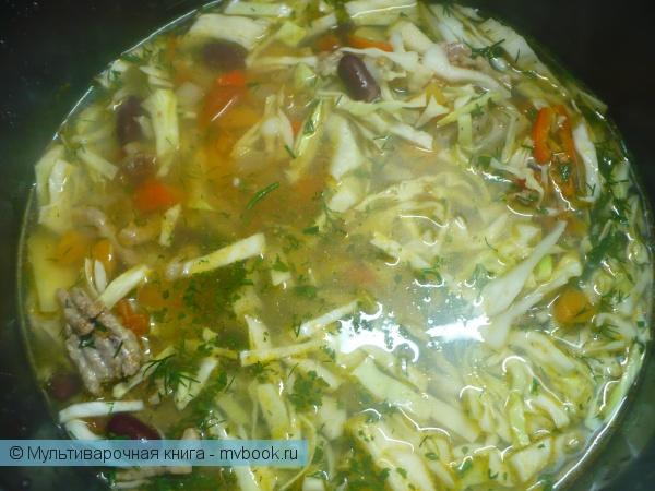 Готовить суп 1 час в мультиварке.