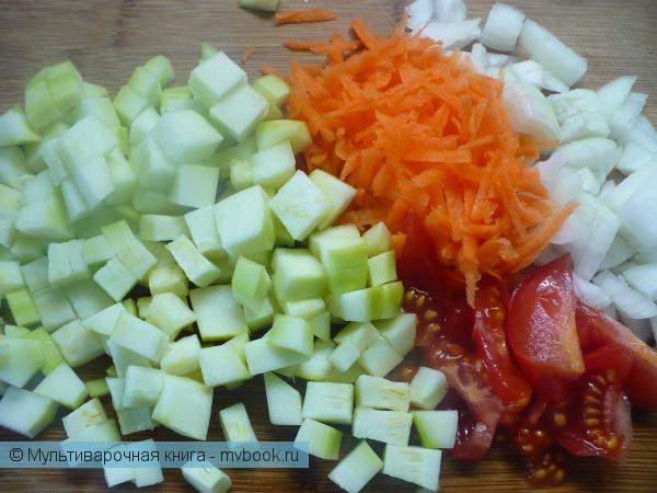 Подготовить все овощи.