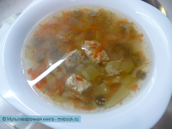 Овощной суп с индейкой в мультиварке