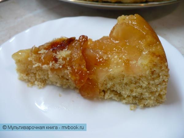 Яблочный пирог-перевертыш в мультиварке