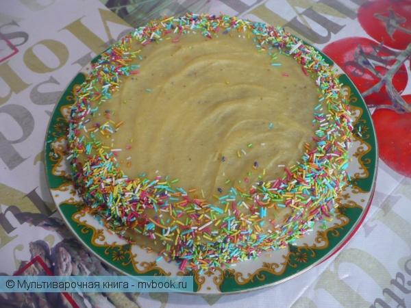 Банановый торт в мультиварке: рецепт с фото
