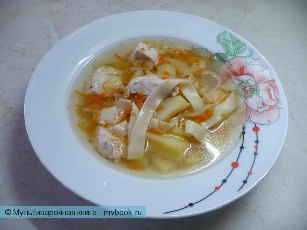 Как сварить суп в мультиварке с индейкой и лапшой?