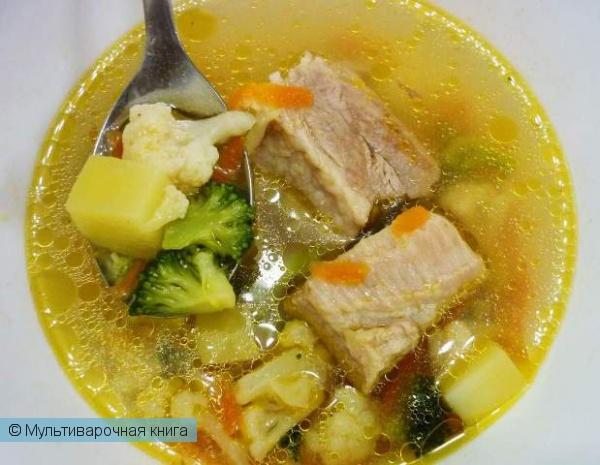Первое блюдо: Овощной суп