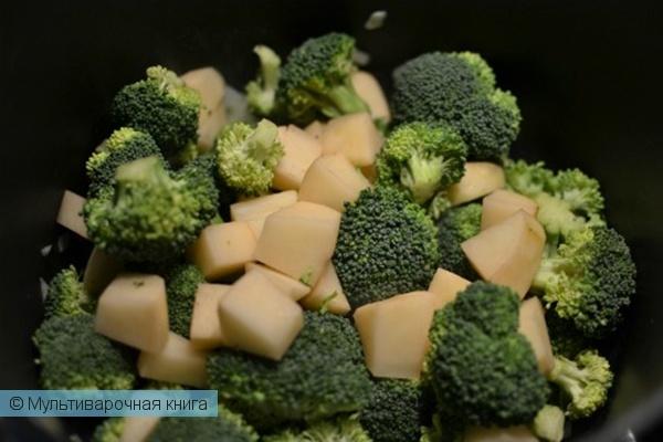 Первое блюдо: Супчик-пюре из брокколи в мультиварке