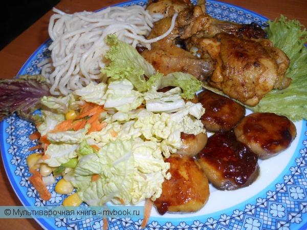 Вторые блюда: Курица с грибами в соевом маринаде