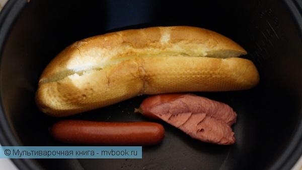 Закуски: Хот-дог в мультиварке