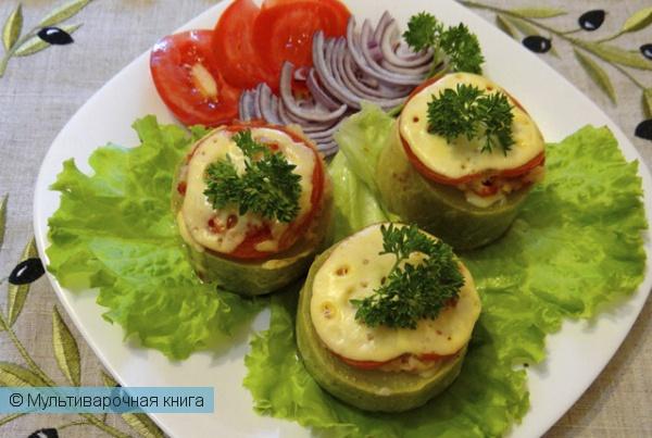Вторые блюда: Фаршированные кабачки