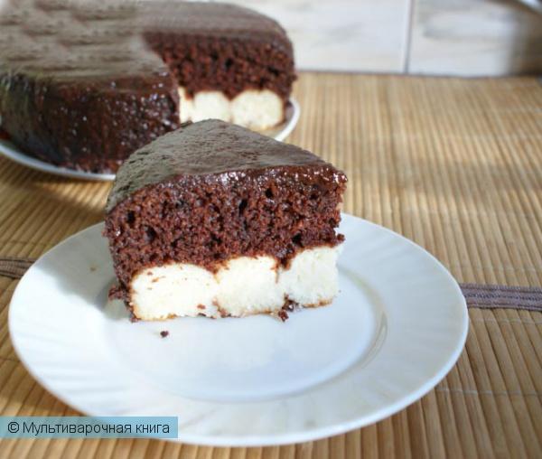 Шоколадный пирог с творожными шариками в мультиварке рецепты с