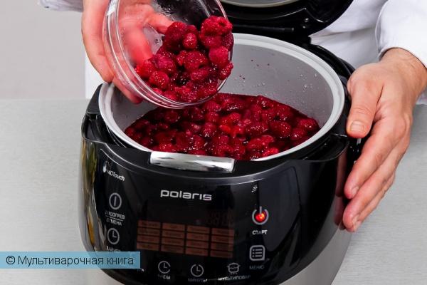 Десерты: Варенье из малины в мультиварке