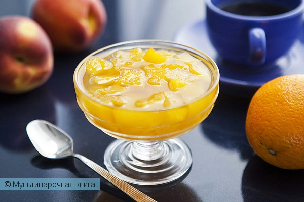Десерты: Персиковое варенье с апельсинами