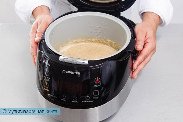 Первое блюдо: Грибной суп-пюре