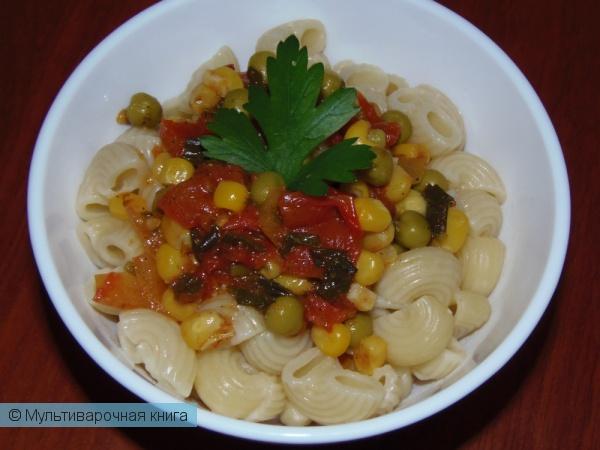 Вторые блюда: Макароны с соусом из овощей