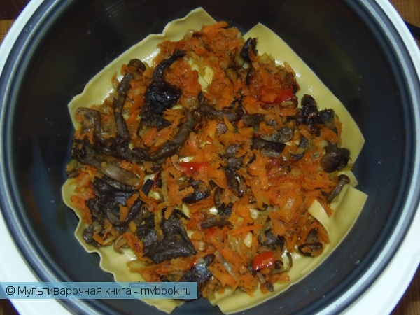 Вторые блюда: Лазанья с грибами