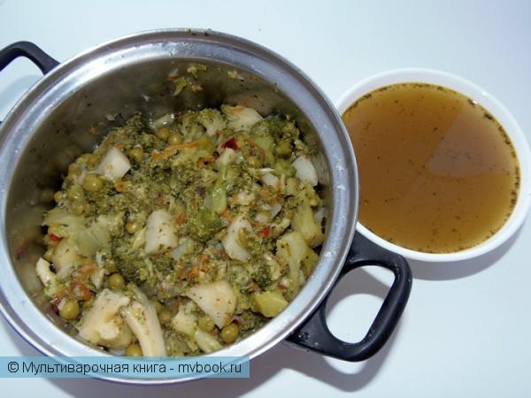 Первое блюдо: Овощной суп-пюре с брокколи