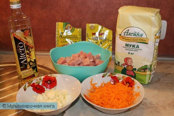 Вторые блюда: Гуляш из свинины в мультиварке - скороварке
