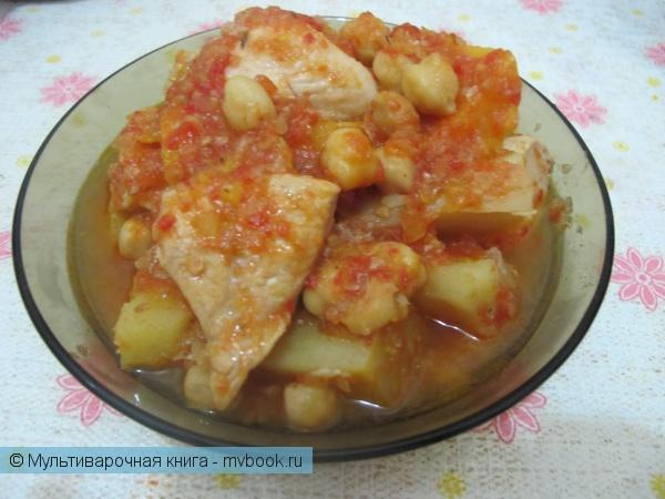 Вторые блюда: Курица с бататом и нутом