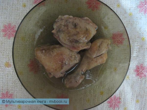 Вторые блюда: Тушенная курица в мультиварке