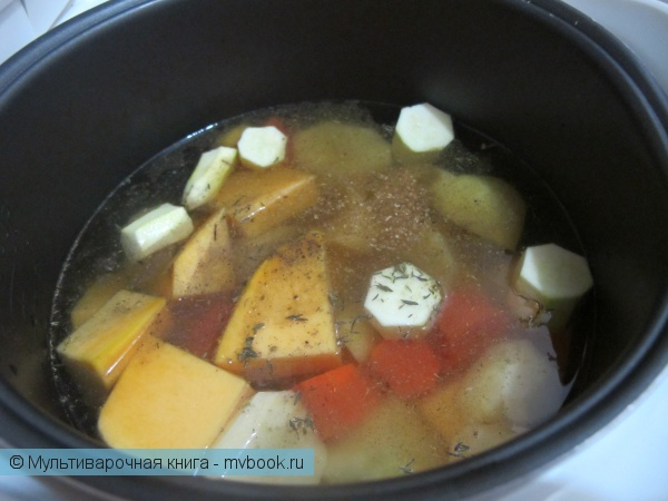 Первое блюдо: Тыквенно-картофельный суп-пюре